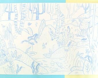 The Naturists Original Print