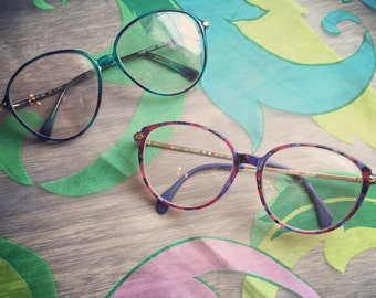FREE SHIPPING on this lot of 2 retro Silhouette eyeglasses. Great for a one of a kind look.