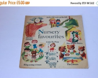 ON SALE Vintage vinyl childrens nursery rhyme record, Heinz baby foods advert