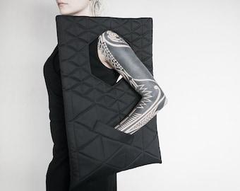 hexabag, Laptop bag, geometry, triangle, black