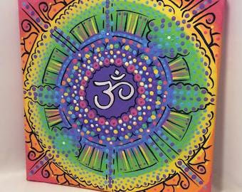 Acrylic Painting/Rainbow/ Chakra/ Art/ Wall Art/Home Decor/ Boho Decor/ RainbowDecor/Reiki /Yoga/ Spiritual gift /Original Art/