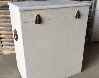 Large vintage storage box toy box