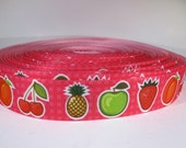 "5 yards of 7/8 inch ""fruit"" grosgrain ribbon"