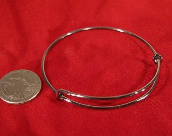 5pc gunmetal color bangle bracelet (JC104)