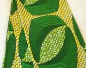 Green African print ankara fabric - one yard, yellow mustard and burnt orange fabric. Circle fabric, ankara print, african print, kitenge,