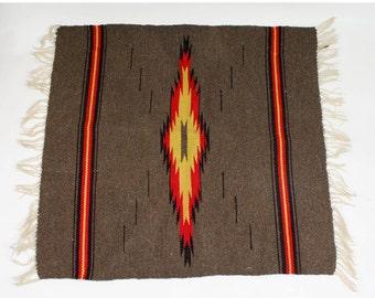 50% off sale! Vintage Mini Southwestern Rug Textile Floor Runner Handwoven Native American Wool Bohemian