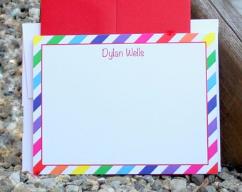 Rainbow Note Cards