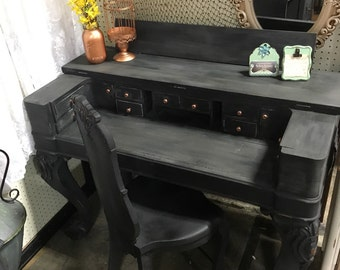 SOLD!! Antique piano turned into desk