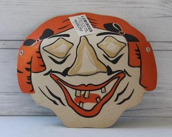 """Vintage Paper """"Masklite"""" Witch Mask, Vintage Old Lady Halloween Mask"""