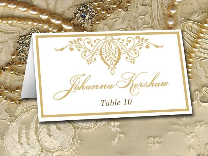 DIY Wedding Place Card Template Gold Wedding Escort Card
