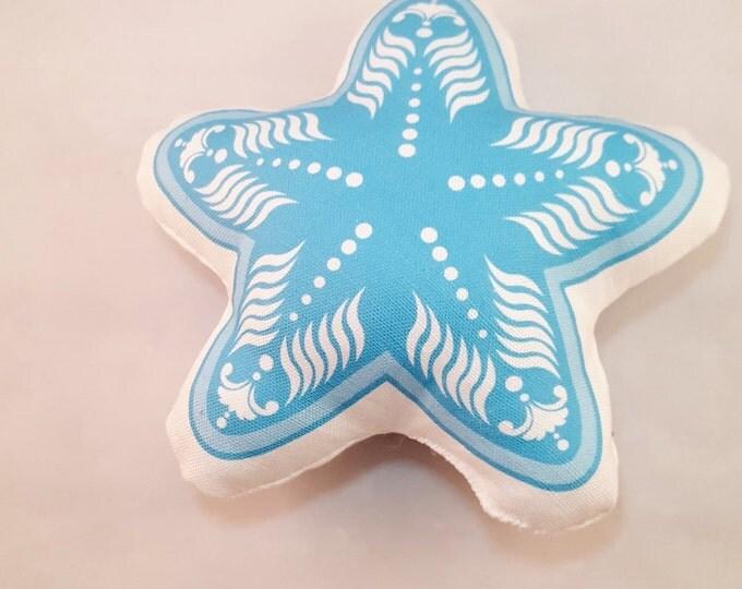 Plush Blue Starfish Large Throw Pillow