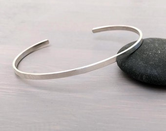 Plain Thin Sterling Silver Stacking Bangle