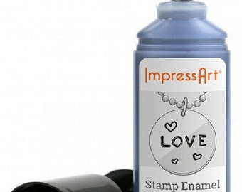 Stamp Enamel, Impress Art, 32.5ml, 1.1fl oz, Metal Stamping, Precise Applicator, Acrylic Ink, Stamping Ink, Water Based Ink, UK Seller