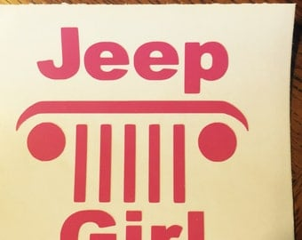 Jeep Girl Car Decal/Sticker