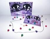 SALE! Limited Edition Lilac Leather Foil Monster Bag
