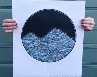 """Relief Print : """"Terra"""""""