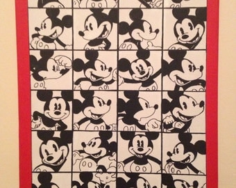 Mickey Mouse comic strip painting