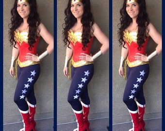 Wonder Woman PANTS NAVY with 5 white stars
