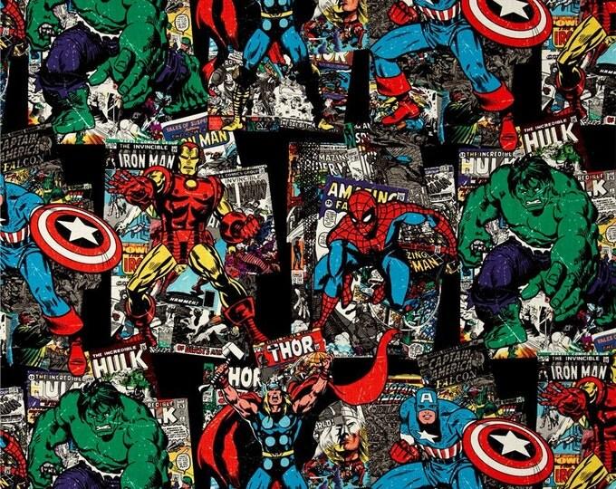 Springs Creative - Marvel Retro Comics Vintage Character Toss - Cotton Woven Fabric