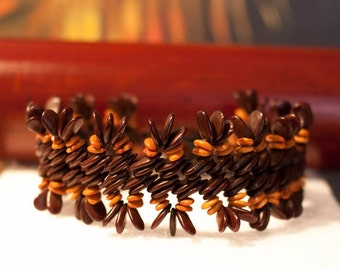 Handmade braclet from natural seeds