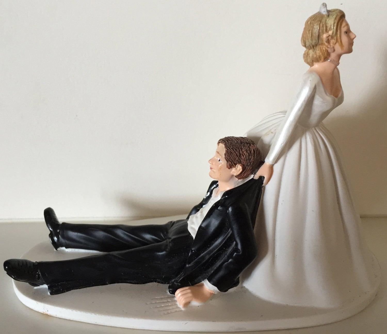 Wedding Cake Topper Bride Drags Groom Decoration Groom s