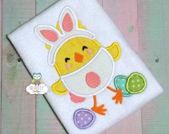 Bunny Chick Easter Shirt or Bodysuit, Girl Easter Shirt, Girl Easter Chick Shirt, Girl chicken Shirt, Easter shirt for Girl, Easter