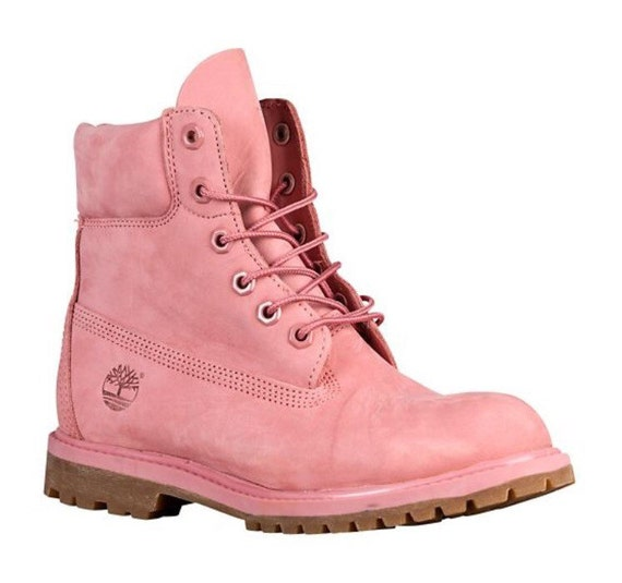 WOMEN Custom Pink timberlands by SpikedCons on Etsy