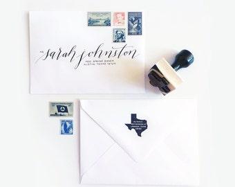 Texas Address Stamp