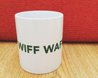 Wiff Waff Mug in White + Green