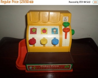 Save 25% Today Vintage 1974 Fisher Price Cash Register No 926 Works Perfect Very Nice Vintage Toy