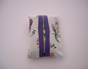 Purple Roses Travel Size Tissue Holder