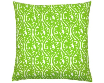 KIMONO pillow green ornament graphically 40 x 40 cm