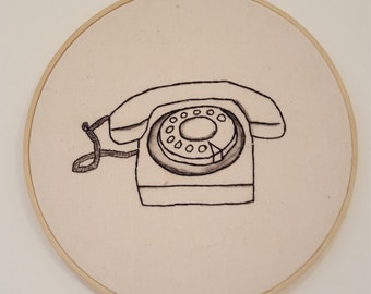 Vintage Telephone Embroidery