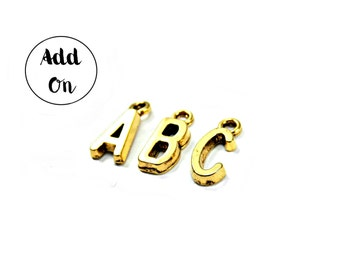 ADD-ON, Gold Initial Charm, Personalized Gift Add-On, Personalized Necklace Add-On, Monogram Gift Add-On