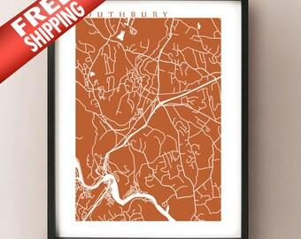 Southbury, CT Map Print