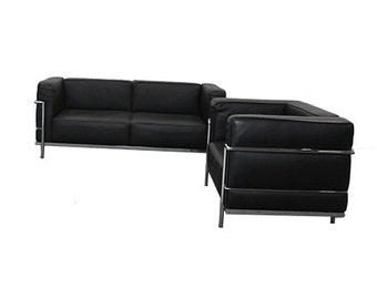 Replica Le Corbusier Sofa & Armchair Set