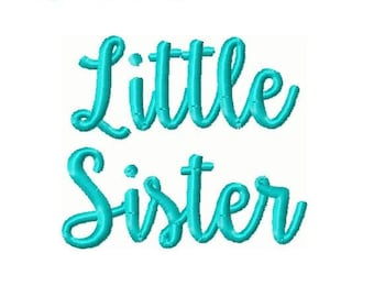 Little Sister Embroidery Design -INSTANT DOWNLOAD-