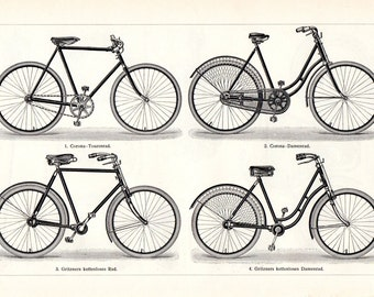 1895 Bikes Bicycle Cyclist Bicyclist Cycling Sports Matted 11 X 14 Antique Print