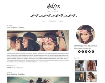 Wordpress Theme - Black and White Theme - Feminine Wordpress Theme - Mobile Responsive - Genesis - Instant Download