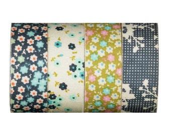 TILDA Memory Lane Adhesive Fabric Tape - Set of 4 rolls