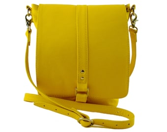 Yellow Leather Merritt Bag