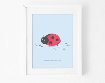 Art Print • Little Ladybug by Celebratink • A4  • Blue