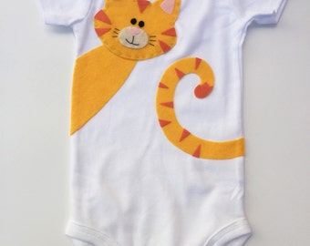 Cat baby onesie kitty toddler shirt