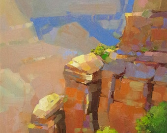 Grand Canyon Landscape, Original oil painting, handmade art, Traditional art, One of a Kind, Signed