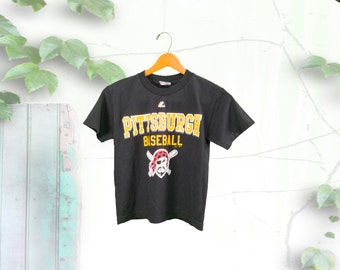 Pittsburgh Pirates Petite Black 90's Tee