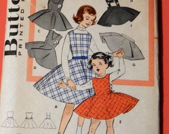 Vintage childs pattern Butterick 9164 Jumper and skirt pattern Size 8