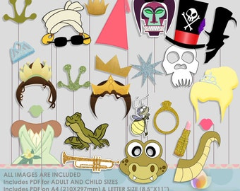 Princess and Froggy Party Photo Booth Props