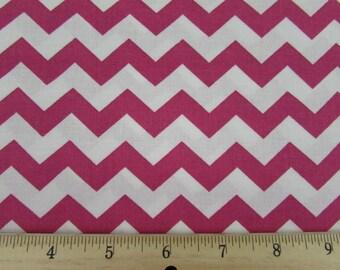 "1/2"" Chevron Flamingo/Hot Pink Fabric"