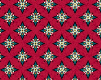 Laredo Foulard Dark Red Fabric From Quilting Treasures By the Yard