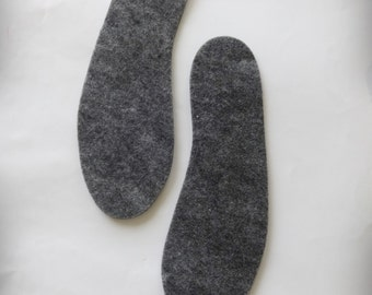 Grey Insoles for Shoes and Slippers, Shoe Insoles, Soles Slippers, Soles Knitted Slippers, Soles Crochet Slippers, Wool Insoles for Shoes